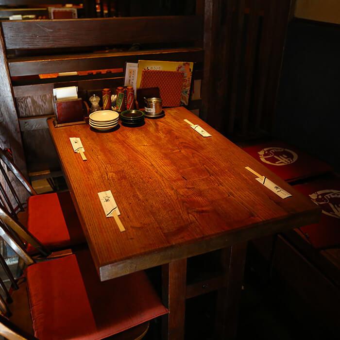 【8名様まで/少人数様向けテーブル席】